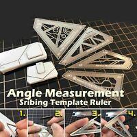 4 in 1 Edelstahl Winkel Lineal Winkelmessgerät Modellbau Measure Werkzeug Set
