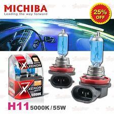 H11 711 MICHIBA HeadLight Duo Halogen Light Bulb 12V 55W 5000K Xenon Super WHITE