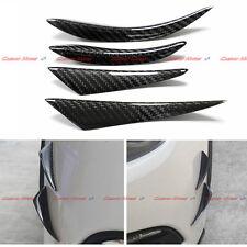 Carbon Fiber Rear Bumper Canard Splitter For BMW Mercedes Audi Lexus Universal