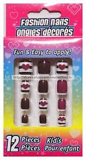 KID'S* Fun & Easy To Apply 12pc FASHION NAILS Press/Stick-On *YOU CHOOSE* 2/2