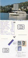 SWISS CRUISE SHIP MS CHABLIS A SHIPS CACHED COVER & COLOUR POSTCARD