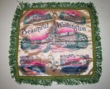VINTAGE SILK PILLOW SHAM COVER VIEWS OF THE NATION'S CAPITOL WASHINGTON