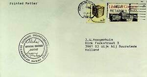 USA 1982 SS OCEANIC INDEPEN. AM HAWAII CRUISES SIGNED COVER W/ 2v TO NETHERLANDS