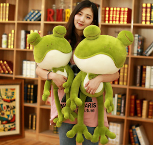 Cute Stuffed Animal Plush Soft Toy Frog Cuddly Pillow Doll Kids Bedtime Gifts