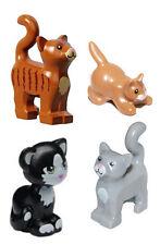 LEGO 4 pcs NEW CAT KITTEN Huge LOT Pet Kitty Animal Friends Minifigure Figure