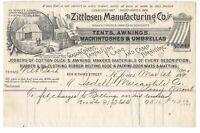 Zittlosen Manufacturing St. Louis Missouri Pony Montana Billhead Receipt 1900