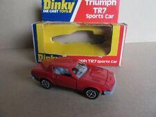 992K Vintage Dinky 211 England Triumph TR7 SPORTS Car Red 1:43 +Box