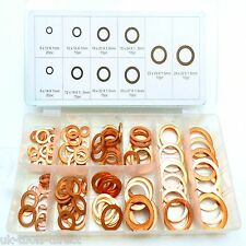 141pc Washers Solid Copper Sump Plug Assorted Garage Engine Washer Set