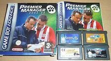 JOB LOT 4 x NINTENDO GAMEBOY ADVANCE GAME Premier Manager SSX Tricky Bust-a-Move