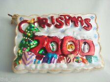"Christopher Radko Christmas 2000 card, 5"" by 3 1/2"""