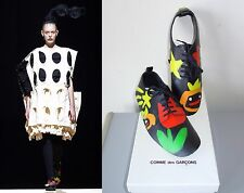 ** COMME DES GARCONS ** New in Box!  Runway Hand Painted Leather Shoe Covers M