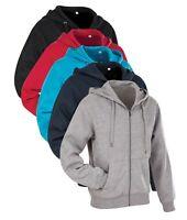 Plain Active Hoodie Hoody Hooded Sweatshirt Sweat Jumper Hoodie