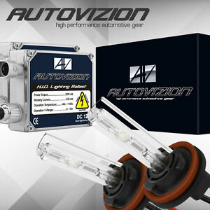 AUTOVIZION 55w HID Kit H4 9003 Hi-Lo 6000K Blue 6K Xenon Headlight Light Bulbs