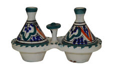 Moroccan Spice Holder Mini Tagine Ceramic Salt And Pepper Shakers Container