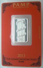 10 Gram Snake Pamp Suisse Silver Bar #000823 Tiny White spots