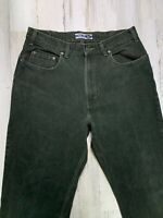 Vintage 90s GAP Made in USA Loose Fit Jeans 34x32 Green