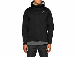 Asics Performance Accelerate Mens Running Jacket Wind/Waterproof Black - L