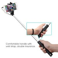 Black Wired Foldable Mini Selfie Stick Holder For Sony Xperia Z5 Z3 M5 M4 E5 Z2