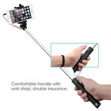 Noir Filaire Pliable Mini Selfie Stick Support pour Sony Xperia Z5 Z3 M5 M4 E5 Z2