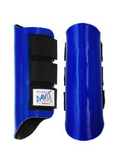 Davis Horse Boots Tendon Splint Jumping Classic Protection Royal Blue Pony/Small