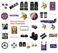 New NFL Minnesota Vikings Pick Your Gear / Car Accessories Official Licensed
