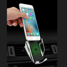 Wireless Car Charger Auto Clamping Dashboard Air Vent Stand For iphone Mobile