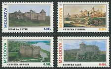 Moldova 1995 Architecture Fortress, Forts, Castles 4 MNH