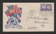 US 1944 FDC patriotic cachet - transcontinental railroad anniversary