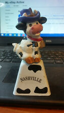Collectible Cow Bell Cow,Nashville, Figurine.Free Shipping