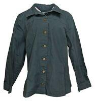 Denim & Co. Women's Sz XL Button Front Utility Shirt Jacket Gray A304991
