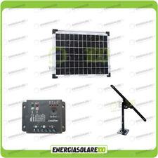 Kit Pannello Solare 10W 12V EJ regolatore di carica 5A Supporto fissaggio Regola