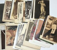 1910 - 1930 's POSTCARD LOT OF 100 ART REAL PHOTO MUSEUM AND MANY OTHERS