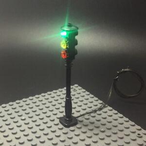 LED street traffic signal light Accessory for city series Bricks/block set DIY