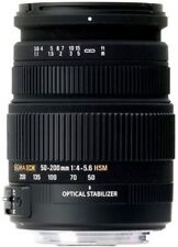 Sigma 50-200mm f/4.0-5.6 DC IF SLD HSM Optical Stabilized (OS) Lens for Canon EF