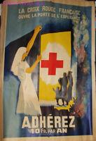 AFFICHE CROIX ROUGE 1943 WW2 par LEO NOEL