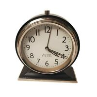 Westclox Retro Classic Big Ben Industrial Modern Alarm Clock Black Base Tested