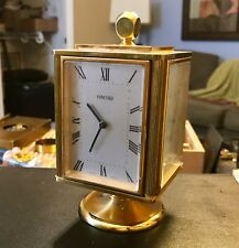 Vintage Swiss Made Concord Brass Desk Top Clock With Weather Station. Beautiful