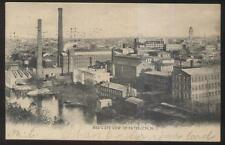POSTCARD PATTERSON NJ/NEW JERSEY WAREHOUSE SECTION BIRD'S EYES AERIAL VIEW 1905