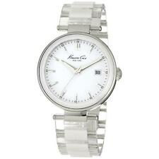 New Kenneth Cole KC4730 Transparent Acrylic & White Ceramic Women's Watch