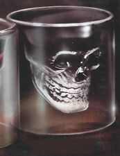 SKULL SHOT GLASS 2oz 60mL Clear Halloween Party GIFT NEW double nip/cup/tumbler