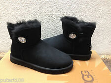 UGG MINI BAILEY BLING SWAROVSKI CRYSTAL BLACK US 6 / EU 37 /  UK 4.5 - NEW