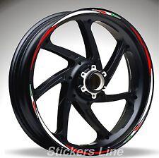 Adesivi ruote moto strisce cerchi DUCATI MULTISTRADA mod. Racing4 stickers wheel