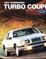 1983 Ford Thunderbird Turbo Coupe Original Sales Brochure Folder
