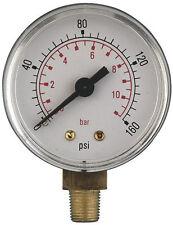 "4 "" Zoll (100mm) Durchmesser Luftdruckprüfer Unten Eingang,3/8 Bsp ,Trocken Maß"