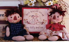 SALE - PATTERN - Archie & Emily - cute twins cloth doll PATTERN