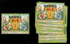 (10) Kamm's Ale Beer Bottle Labels Lot (Mishawaka, In)