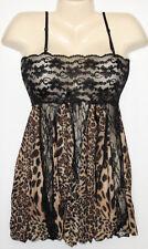 W3001 Sexy Lingerie Babydoll Lounge Wear Lace Leopard