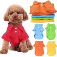 Pet Dog Cotton Short Sleeve Clothes Vest Puppy Apparel T-Shirt Summer Shirt D12