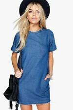 Denim Casual Dresses for Women with Pockets