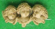 VINTAGE  DOLLS HOUSE  PRETTY MINIATURE BROOCH 3 ANGELS